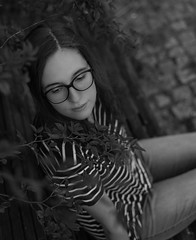 BW Outdoor Portrait (LukasBinnenboesePhotography) Tags: bw black white portrait outdoor shooting sony alpha7 50mm prime