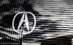 Acura Carbon Fiber (Osajus) Tags: acura badge carbon fiber black weave contrast nsx gt3 racing car