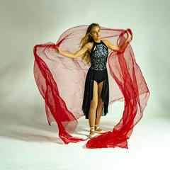 dancer and red net (Mark Rigler -) Tags: pretty cute sweet young fun girl woman dancer ballet ballerina studio white background black tutu red net