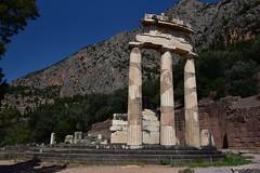DSC_9603 (Kent MacElwee) Tags: greece delphi europe sanctuaryofathenapronaia athena goddess greekmythology archaeologicalsite ancient historic ruins archaeology mountparnassus 4thcenturybc ancientgreece column delphoi