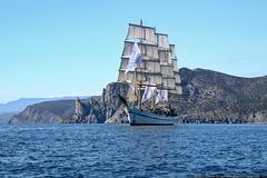 DSC_7304 (yuhansson) Tags: фрегат херсонес море чёрное парусник крым паруса парус корабли корабль путешествие путешествия югансон юрий boat sea sky water vessel ship sailing новыйсвет судак