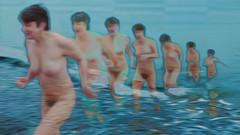Bildschichten am Strand 12 (wos---art) Tags: bildschichten ostsee strand akt baden schwimmen frauenakt sommer frühling herbst winter nude nackt badende ohne unbekleidet