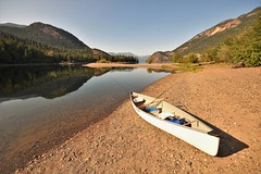 Time for a paddle (Rudi Verspoor) Tags: canoe canada lake travel family holiday bluesky water reflection