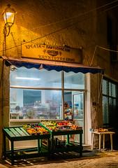 Night Supermarket  - Myrina Town - Limnos (Olympus OM-D EM1-II & M.Zuiko 12-40mm f2.8 Pro Zoom) (1 of 1) (markdbaynham) Tags: greece greek greekisland greekholiday greeceaegean greka grecia hellas hellenic myrina myrinatown northaegean aegeanisland gr limnos lemnos olympus olympusomd olympusgreece olympusem1 olympusprolens mft olympusmft m43 mzd zd mzuiko zuikolic 1240mm f29 promzoom zoomlens em1 em1ii em1mk2 csc mirrorless microfourthird microfourthirds m43rd micro43 micro43rd travel omd evil em1mark2
