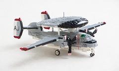 "E-1B Tracer of VAW-12 ""Bats"" (Mad physicist) Tags: lego grumman e1b wf1 tracer cvw8 forrestal aew aircraft usnavy military"
