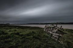 The Severn... (Jess Feldon) Tags: le boatgraveyard purtonhulks gloucestershire jessfeldon oldwreck riverbank sky severn riversevern river longexposure leebigstopper