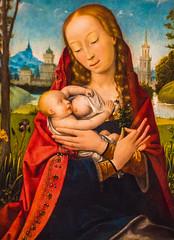 The Madonna Nursing the Infant Christ (Thomas Hawk) Tags: america janprovoost janprovost museum slc saltlakecity themadonnanursingtheinfantchrist ufma usa unitedstates unitedstatesofamerica universityofutah utah utahmuseumoffinearts painting us fav10