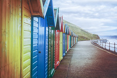 Promenade (iratebadger) Tags: nikon nikond7100 d7100 beachhuts colours colors seaside shore coast yorkshire yorkshirecoast whitby promenade doors outside outdoors iratebadger
