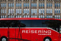 Alsterhaus (Art de Lux) Tags: hamburg jungfenstieg alsterhaus alsterhouse bus gebäude building fassade housefront farbe color rot red deutschland germany architektur architecture microfourthirds mft gx8