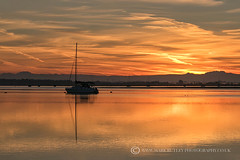 GOLDEN WATER (mark_rutley) Tags: clouds coastmill hampshire harbour langstone markrutleyphotography sky sunrise goldenhour morning weather