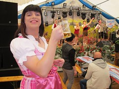 Thank you for the music (Paula Satijn) Tags: sexy hot girl smile fun joy happy dress skirt dirndl oktoberfest party satin silk shiny silky pink girly feminine tgirl tranny sweet cute beer cheers apron joyous gown costume band misic