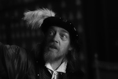 Portrait (VKUSH) Tags: medievalcostume man actor people performance stirlingcastle hat portrait bw monochrome blackwhite