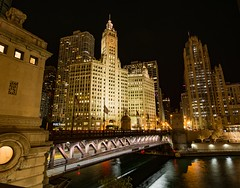 DuSable Bridge from the side . . . (Dr. Farnsworth) Tags: bridge michiganavenue loop magnificent mile double decker tender chicago il illinois fall october2018