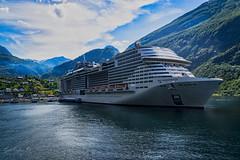 Make way too (Geert E) Tags: ship cruise boat fjord norway msc meraviglia