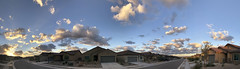 Sun's 1st Light of Day (northern_nights) Tags: pano panorama sunrise vail arizona cumulus fairweather clouds sky cloudscape skyscape