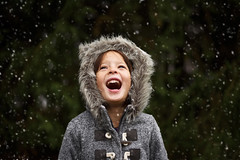 Dear October,  yes, some people were excited to see the snow but come on!!! We've barely had fall, we don't need winter yet! (Elizabeth Sallee Bauer) Tags: nature active child childhood coat cold cozy fun girl kid nonurbanscene outdoors outside playing snow snowfall white winter youth