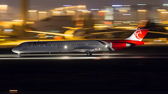 ATA Airlines MD-83. (spencer_wilmot) Tags: ist istanbul ataturk turkey night nightshoot nighttime panning ramp runway lights logo eptar md83 mcdonnelldouglas civilaviation commercialaviation departure plane passengerjet jet jetliner ttail twin taxiway takeoff i3tbz i3 tbz atalarair ataairlines ltba istltba istanbulatatürkairport istanbulatatürkhavalimanı aviation aircraft airplane airliner airport apron mediumhaul narrowbody