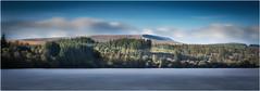 Vista (paullangton) Tags: reservoir wales brecon sky water clouds cloud autumn colours blue white green trees sun shadow longexposure canon mountain valley woods forest shore serene landscape nature
