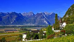 Plaine du Rhône (Diegojack) Tags: vaud suisse yvorne paysages montagnes plaine d500 nikon nikonpassion rhône vignes vignobles automne fabuleuse