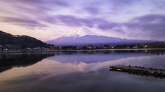 The reflection morning of Mt. Fuji // from Kawaguchiko lake (onion407) Tags: mountain landscape nature background sunset view hill sky beautiful outdoor travel environment light city cloud mountains beauty scene cold japan vocalno lake water famous destination big high tourism stong holiday colorful attraction evening reflection morning