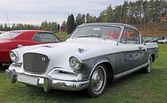 1956 Studebaker Golden Hawk (crusaderstgeorge) Tags: crusaderstgeorge cars classiccars 1956studebakergoldenhawk 1956 studebaker goldenhawk americancars americanclassiccars americancarsinsweden högbo sweden sverige veterancar chrome cool