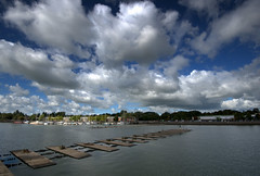 Clouds over Preston Docks (Tony Worrall) Tags: preston lancs lancashire city welovethenorth nw northwest update place location uk england north visit area attraction open stream tour country item greatbritain britain english british gb capture buy stock sell sale outside outdoors caught photo shoot shot picture captured ashtononribble ashton prestondocks prestonmarina docks marina wet water waterside weather clouds scenic scene scenery fluffy boats sky