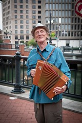 2018-9-8 Street performer at WaterFire (Photograph by Kevin Murray)