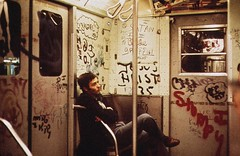 The joy of commuting on the subway in the mid 1970s. One of less inspirational places in Manhattan. Crime, graffiti, loud screeching noises, utter depersonalization, the smell of electricity and urine. New York. Sept 1974 (wavz13) Tags: newyorkphotographs newyorkphotos urbanphotography urbanphotos newyorkphotography manhattanphotography urbanlife newyorklife manhattanlife oldphotographs oldphotos 1970sphotographs 1970sphotos oldphotography 1970sphotography oldnewyorkphotography oldnewyorkphotos vintagenewyork vintagenewyorkphotography vintagenewyorkphotographs vintagenewyorkphotos dreary 110film kodacolor analogphotography filmphotography pocketinstamatic vintagemanhattan oldmanhattan oldnewyork 1970snewyork urban grain grainy oldsubways vintagesubways 1970smanhattan instamatic