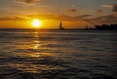 Key West Sunset (lightonthewater) Tags: florida floridakeys keys keywest sunset sailboats silhouettes crane clouds sky atlanticocean ocean waves water