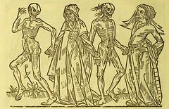 This image is taken from Page 30 of La grande danse macabre des hommes et des femmes : précédée du dict des trois mors et dfs [!] trois vifz, du Débat du corps et de l'ame, et de La complaincte de l'ame damp (Medical Heritage Library, Inc.) Tags: dance death wellcomelibrary ukmhl medicalheritagelibrary europeanlibraries date1862 idb24877402