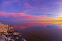 Splendid Smooth Still Shiny Sparkling Saturday Salton Sea Sunset (slworking2) Tags: niland california unitedstates us sunset saltonsea lake desert reflection mirror nilandmarina shore beautiful sky clouds