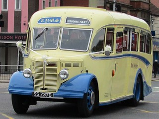 EYMS 100 , 1949 Bedford OB Duple Wedding Party Bus