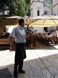 The waiter of Kotor