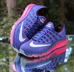 Nike Air Max 2016 Women's Running Shoes Purple 806772-502 Size 9.5 (reddealsonline) Tags: nikeairmax2016women'srunningshoes purple lightblue white pink 806772502 engineeredmeshupper upc00886550587327 fulllengthmaxairunit flywirecables wafflerubberoutsole reflectivedetails