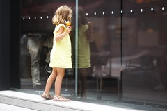 Les Petites Fascinations De La Vie (N A Y E E M) Tags: girl child french shop cafe window afternoon icecream starbucks reflection street jingan shanghai china moment