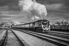 City of Wells storms through (Tony Teague (Slowcomo)) Tags: brmk1stock greatcentralrailway no34092cityofwells srbrbattleofbritainclass swithlandsidings timelineeventscharter bloodcustardlivery heritagerailway steamrailway steamlocomotive preservedrailway tonyteague
