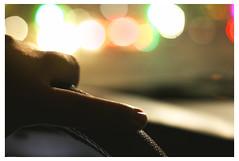On The Drive Home (teddybear--11) Tags: onthedrivehome teddybear11 photography photoshop night canon hand car windshield october bokeh fingernail
