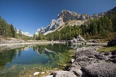 The Double Lake (Kaspazak) Tags: alps slovenia slovenija mountains lake landscape water hiking nature