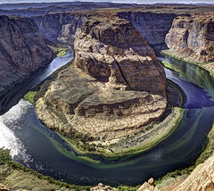 Horseshoe Bend (beelzebub2011) Tags: usa arizona page horseshoebend hdr canyon coloradoriver panorama verticalpanorama
