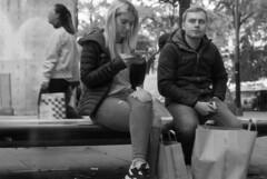 We used to talk (4foot2) Tags: candid candidportrate people peoplewatching interestingpeople manchesterpeople reportagephotography reportage piccadillygardens shootfromtheknee zonefocus guess streetphoto streetshot street streetphotography manchester asahipentax asahi asahipentaxspotmaticsp spotmatic spotmaticsp sp takumar supertakumar supertakumar11855 supertakuma55mmf18 analogue film filmphotography 35mmfilm 35mm oldfilm outofdatefilm expiredfilm experimental bw blackandwhite monochrome mono 2484 kodak2484 kodak hc110 kodakhc110 2018 fourfoottwo 4foot2 4foot2flickr 4foot2photostream