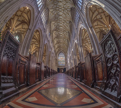 if i told you i don't believe would you care (Wizard CG) Tags: st mary redcliffe church bristol england uk hdr fisheye lens gothic architecture grade i listed building stained glass anglican parish epl7 ngc world trekker micro four thirds 43 aisle hall mosaic vault ceiling wood room people symmetry samyang