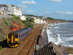 150238 Dawlish (2) (Marky7890) Tags: gwr 150238 class150 sprinter 2f25 dawlish railway devon rivieraline train