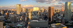 160602 Tokyo skyline panorama [labelled].jpg (Bruce Batten) Tags: atmosphericphenomena bridges buildings cloudssky honshu japan locations machida northpacificocean oceansbeaches panoramas photographicstylesandtechniques rainbow reflections shadows subjects tokyo tokyobay transportationinfrastructure urbanscenery
