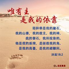 logo_只有神是我唯一的依靠--诗篇-18_2-耶和華是我的巖石、我的山寨、我的救主、我的-神、我的磐石、我所投靠的.他是我的盾牌、是拯救我的角、是我的高臺。-_ (追逐晨星) Tags: