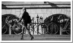 High heels (vanderwoud1) Tags: girl woman heels high bw autumn