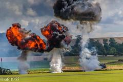 Duxford Airfield under attack (safc1965) Tags: duxford airshow battle britain ww2 raf luftwaffe iwm imperial war museum