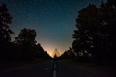 Pieces of Time... (free3yourmind) Tags: night sky stars pieces time man selfie fractal fractals infinity forest belarus road