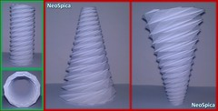 Conical Cylinder Origami Collapsible In Spiral Based On Dodecagon (3/5) (NeoSpica / NeoLiveArt) Tags: conical cylinder tube origami collapsible spiral dodecagon fold folded folding structure design corrugation tessellation paper papercraft ideas lamp lampshade helix swirl decor decoration decorative handmade variation pleating developed