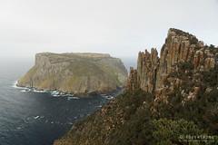 20181014-13-Three Capes Track day 3 - Tasman Island and The Blade (Roger T Wong) Tags: 2018 australia capepillar np nationalpark rogertwong sel24105g sony24105 sonya7iii sonyalpha7iii sonyfe24105mmf4goss sonyilce7m3 tasmanisland tasmannationalpark tasmanpeninsula tasmania threecapestrack bushwalk cliff cloud dolerite fog grey hike mist outdoors sea tramp trek walk