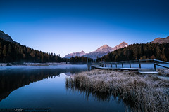 Sunrise at Stazer Lake (no.zomi) Tags: engadin switzerland grison graubünden lake stazer zeiss sonya7 a7rii a7r2 carl variotessar16354za variotessartfe41635 sunrise blue hour carlzeiss see